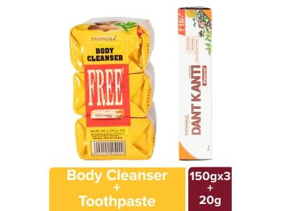 Patanjali Haldi Chandan Kanti Body Cleanser(3x1)150g Co Dk ₹10