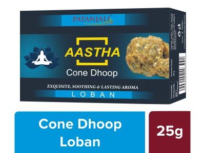 Aastha 25 Gm Cone Dhoop - Loban