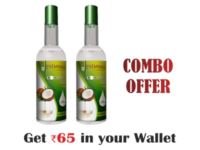 100% Pure Virgin Coconut oil 500ml Combo (pack of 2)- Rs 65 Off