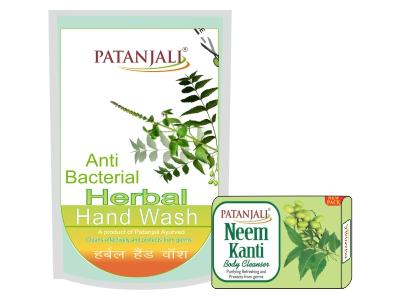 Patanjali Herbal Hand Wash (Anti Bacterial) 200ml C.P Neem 100gm