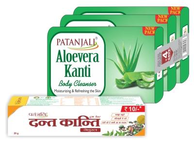 Patanjali Aloe Vera Kanti Body Cleanser (3x1)150g Co Dk Rs. 10