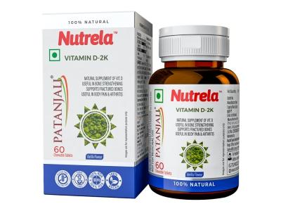 Patanjali Nutrela Vit D2k Natural Tab- Vanilla