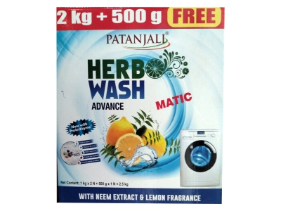 HERBO WASH A.MATIC D.PWDR. 2KG+FREE 500G