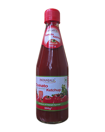 PATANJALI TOMATO KETCHUP WITH ONION GARLIC 500 GM