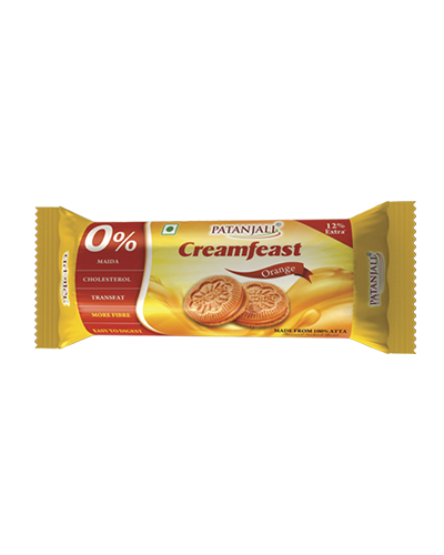 PATANJALI CREAMFEAST ORANGE BISCUIT
