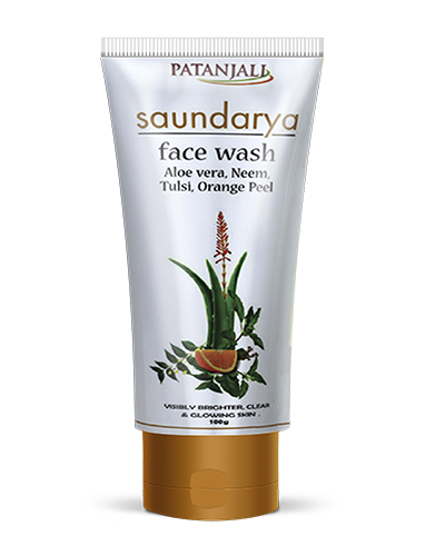 SAUNDARYA FACE WASH (ALOEVERA, NEEM, TULSI, ORANGE PEEL)