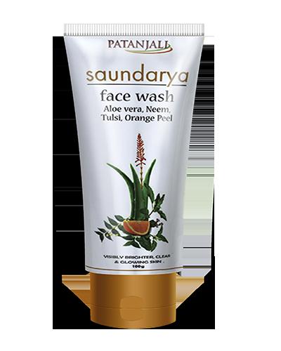 Patanjali Saundarya Face Wash (Aloevera, Neem, Tulsi, Orange Peel)