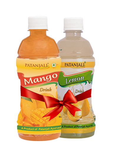 PATANJALI FRUIT BEVERAGES COMBO ( MANGO DRINK 500Ml + LEMON DRINK 500Ml)