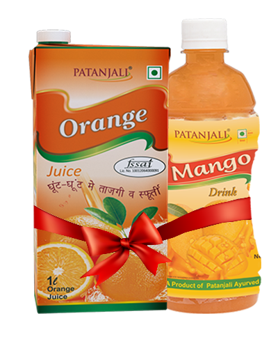 PATANJALI FRUIT BEVERAGES COMBO ( MANGO DRINK 500Ml + ORANGE JUICE 1Ltr)
