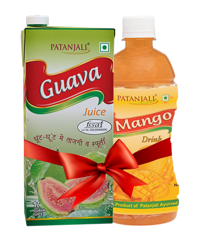 PATANJALI FRUIT BEVERAGES COMBO ( MANGO DRINK 500Ml  + GUAVA JUICE 1Ltr)