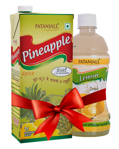 PATANJALI FRUIT BEVERAGES COMBO ( PINEAPPLE JUICE 1Ltr + LEMON DRINK 500Ml)