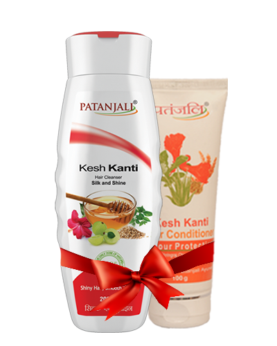 PATANJALI SHAMPOO & CONDITIONER COMBO ( HAIR CLEANSER SILK & SHINE + HAIR CONDITIONER COLOUR PROTECTION)