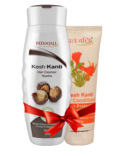PATANJALI SHAMPOO & CONDITIONER COMBO ( HAIR CLEANSER REETHA + HAIR CONDITIONER COLOUR PROTECTION)
