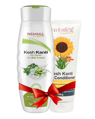 PATANJALI SHAMPOO & CONDITIONER COMBO ( HAIR CLEANSER MILK PROTEIN + HAIR CONDITIONER DAMAGE CONTROL )