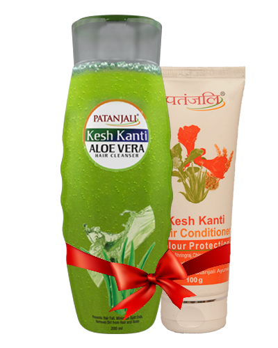 PATANJALI SHAMPOO & CONDITIONER COMBO ( HAIR CLEANSER ALOEVERA + HAIR CONDITIONER COLOUR PROTECTION)