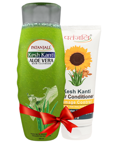 PATANJALI SHAMPOO & CONDITIONER COMBO ( HAIR CLEANSER ALOE VERA + HAIR CONDITIONER DAMAGE CONTROL )