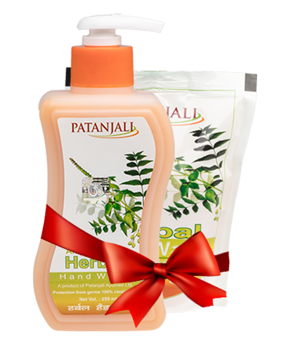 PATANJALI HERBAL WASH COMBO ( Handwash250 ml + Refill Pack 200 ml)