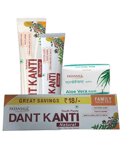 DANT KANTI NATURAL FAMILY VALUE PACK(200+100)GM WITH 75 GM BATH SOAP