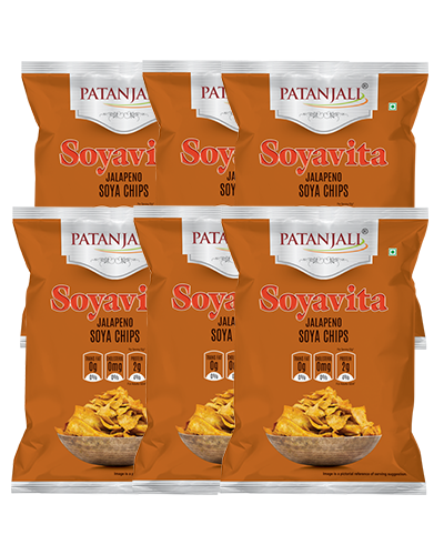 SOYAVITA JALAPENO SOYA CHIPS 100 GM ( PACK OF 6)