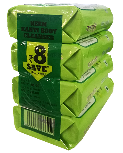 NEEM KANTI BODY CLEANSER (4 X 1) 100Gm