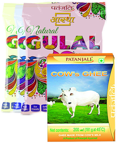 COWS GHEE 200 ML PLUS 3 PACK NATURAL GULAL(Red, Yellow & Blue)