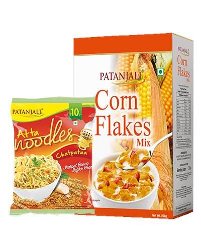 CORN FLAKES MIX 500Gm Plus ATTA NOODLES CHATPATAA-60Gm