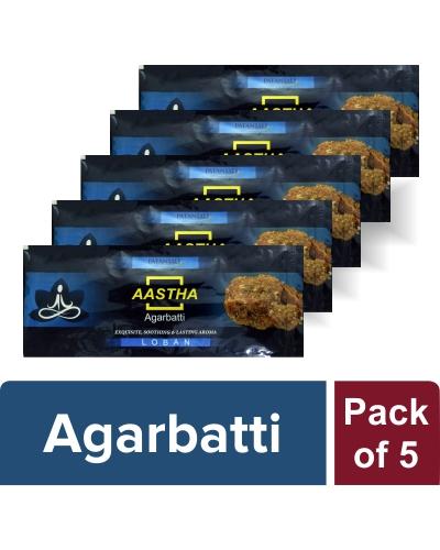 AASTHA AGARBATTI -LOBAN (Pack of 5)