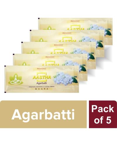 AASTHA AGARBATTI - MOGRA (Pack of 5)