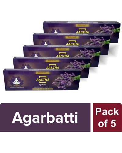 AASTHA AGARBATTI - LAVENDER (Pack of 5)