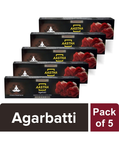 AASTHA AGARBATTI - ROSE (Pack of 5)