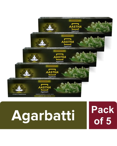 AASTHA AGARBATTI - JASMINE (Pack of 5)