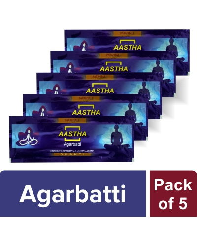 AASTHA AGARBATTI - SHANTI (Pack of 5)
