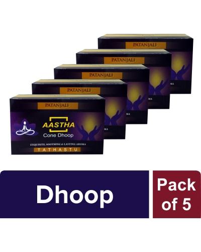 AASTHA CONE DHOOP TATHASTU (Pack of 5)