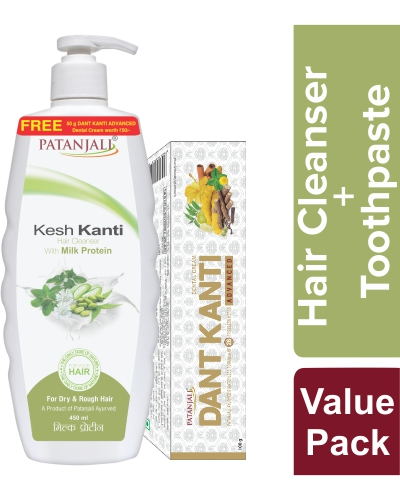 KESH KANTI HAIR CLEANSER MILK PROTEIN 450 ML-OFFER PACK
