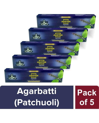 AASTHA AGARBATTI - PATCHUOLI (Pack of 5)