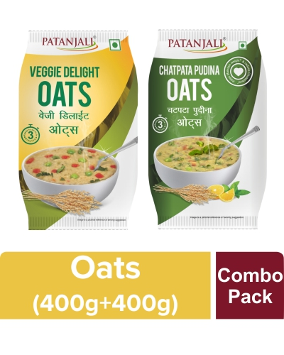 OATS COMBO(CHATPATA PUDINA OATS 400GM + VEGGIE DELIGHT OATS 400GM)