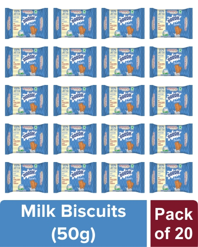 PATANJALI DOODH BISCUITS - 50 gm (Pack of 20)