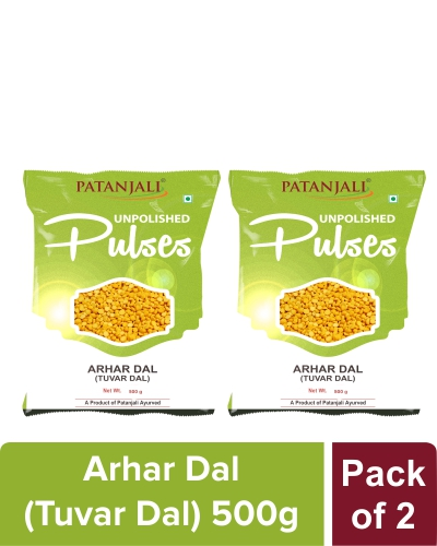 UNPOLISHED ARHAR DAL (TUVAR DAL) 500 gm Pack of 2