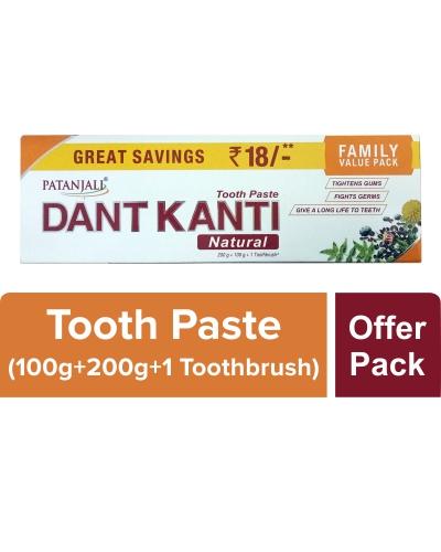 Patanjali Dant Kanti Natural Family Value Pack