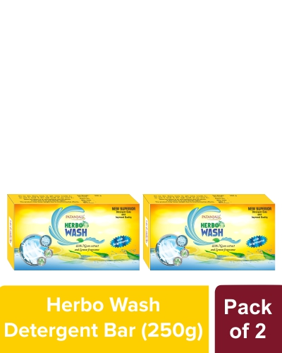 HERBO WASH DETERGENT CAKE - 250 gm (Pack of 2)