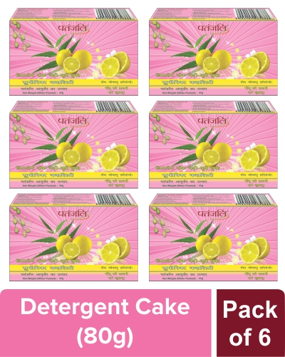 SUPERIOR QUALITY DETERGENT CAKE  - 80 gm (Pack of 6)