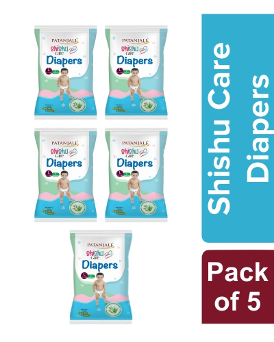 SHISHU CARE BABY DIAPER (LARGE-1) Pack of 5