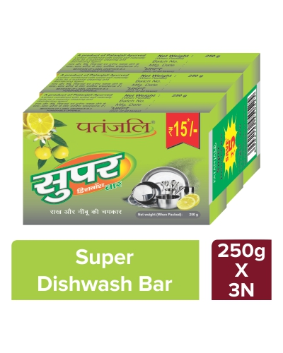 Super Dish Wash Bar 250 Gm (3x1)
