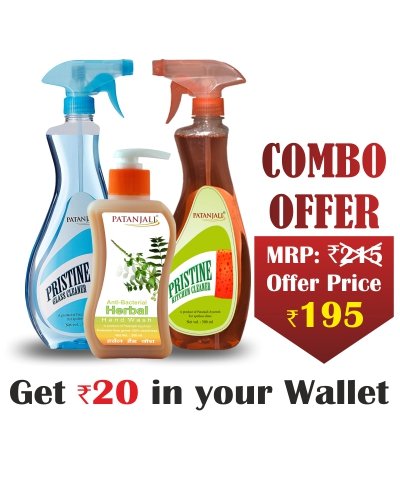 Combo- Herbal Hand Wash 250 ml+Kitchen Cleaner 500ml+Glass Cleaner 500ml - Rs 20 Off