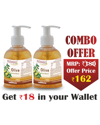 Combo- Olive Hand Wash 175 ml(Pack of 2)- Rs 18 Off