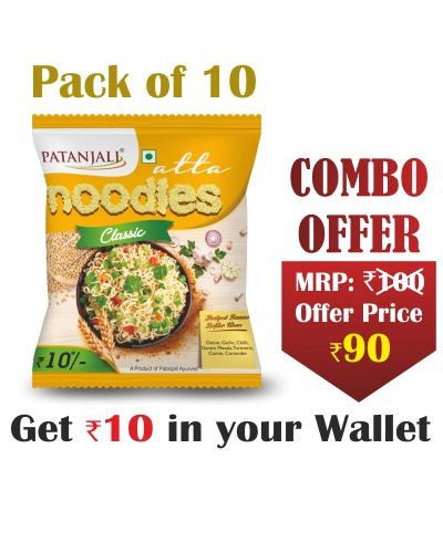 Pack of 10- Atta Noodles Classic 60gm- Rs 10 Off