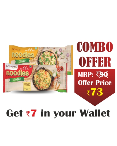 Combo- Atta Noodles Chatpata 240 gm+Atta Noodles Classic 240 gm- Rs 7 Off