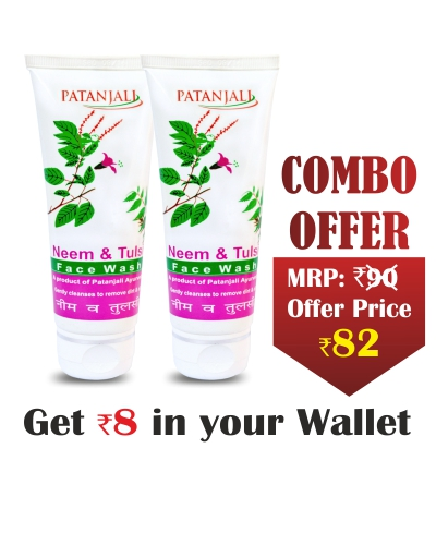 Combo- NEEM TULSI FACE WASH 60gm(Pack of 2)- Rs 8 Off