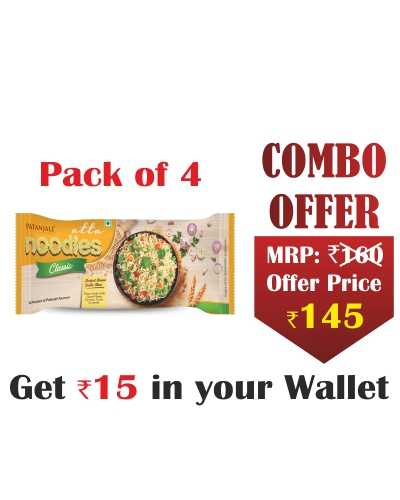 Pack of 4- Atta Noodles Classic 240 gm- Rs 15 Off