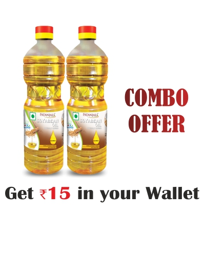 Combo-Fortified Soyabean Oil 1 ltr (B)(Pack of 2)- Rs 15 Off